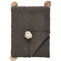 Chunky Pom Pom Knit Throw VR42401