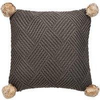 Chunky Pom Pom Knit Cushion