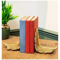 'Gold Feather Book Ends
