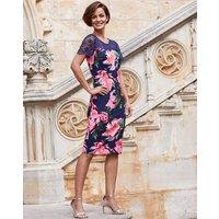 Joanna Hope Floral Scuba Lace Top Dress