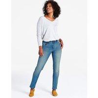 Petite Mid Blue Sadie Slim Leg Jeans