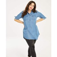 Soft Tencel Tunic With Button Fastening
