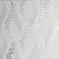 Luxe Ribbon White/Silver WP.