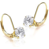 9Ct Gold Round Drop Earrings.
