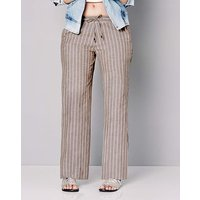 Stripe Linen Mix Trousers Short