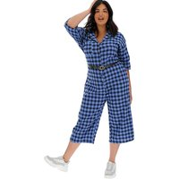 Daisy Street Checked Boiler Suit