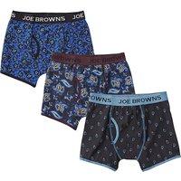 Joe Browns 3 Pack Paisley Boxer Shorts