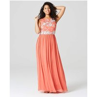 Dusky Pink Embroidered Maxi Dress