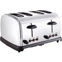 JDW 4 Slice Stainless Steel Toaster