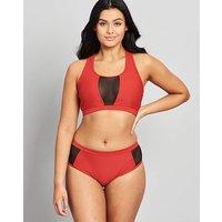 Simply Yours Red Mesh Long Bikini Set