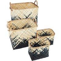 Set of 4 Bamboo Baskets