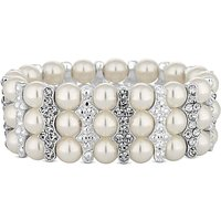 Lipsy Pearl And Crystal Bar Bracelet