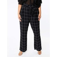 Lovedrobe GB Check Wide Leg Trousers