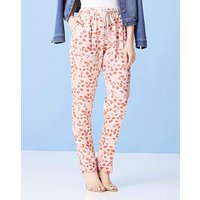 Print Tapered Satin Trousers Reg