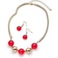 Catseye Necklace And Earrings Set