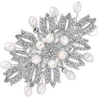 Mood Silver Plated White Barette Pin