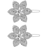 Mood Silver Plated 2 Pack Pin Clip Hair