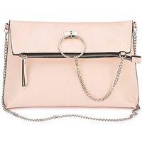 Pink Ring Detail Foldover Bag
