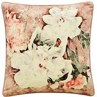 Blush Floral Velvet Cushion