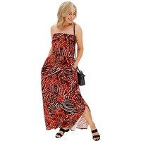 Multi Print Bandeau Maxi Dress