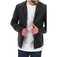 Leather Biker Style Jacket Long.
