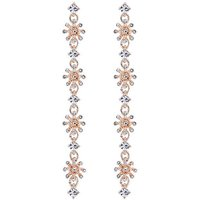 Lipsy Rose Gold Crystal Floral Earring.