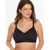 Miss Mary Moulded Non Wired Black Bra