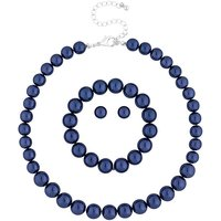 Mood Blue Pearl Jewellery Set