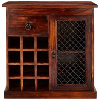 Jaipur Sheesham Wood Wine Rack