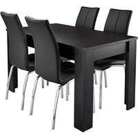 Mono Dining Table 4 Zander Dining Chairs