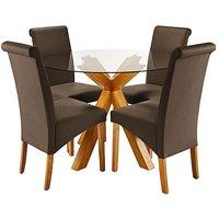 Albany Circular Table 4 Siena Chairs