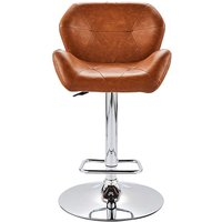 Bronx Antique Faux Leather Barstool