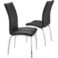 Zander Pair of Faux Leather Chairs