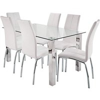 Zander Large Dining Table 6 Chairs