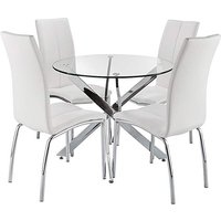 Meridien Circular Table 4 Zander Chairs at JD Williams Catalogue