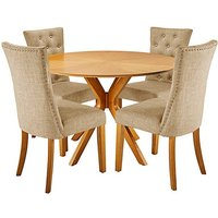 Sunburst Table with 4 Shaftsbury Chairs at JD Williams Catalogue