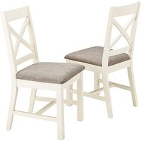 Norfolk Two Tone Pair of Dining Chairs.