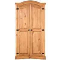 Corona Solid Pine 2 Door Wardrobe