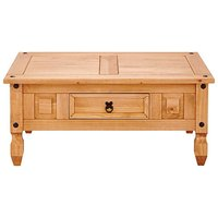 Corona Solid Pine Storage Coffee Table