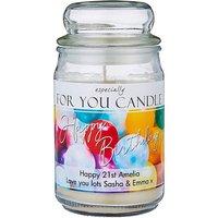 Personalised Birthday Jar Candle