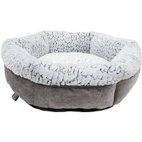 Rosewood Fleece Lined Plush Dog Bed 64cm.
