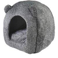 Rosewood Grey Teddy Bear Cat Bed.