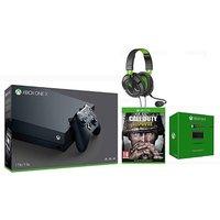 Xbox One X +COD WWII +TB 50X +P&C Kit