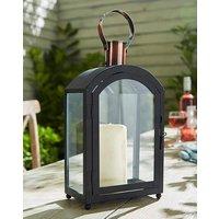 Black and Copper Garden Lantern