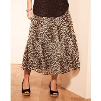 Print Crinkle Tiered Skirt