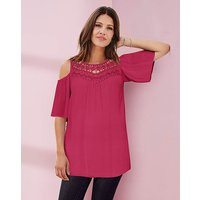 Together Lace Trim Crepe Blouse