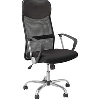 'Mesh & Leather Effect Office Chair