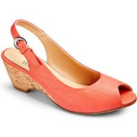 Top to Toe Slingback Shoes EEE Fit