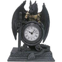 'Gothic Dragon In Armour Mantle Clock