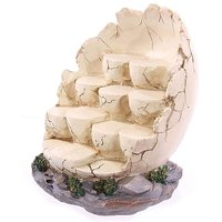Tiered Rock Effect Egg Shaped Display